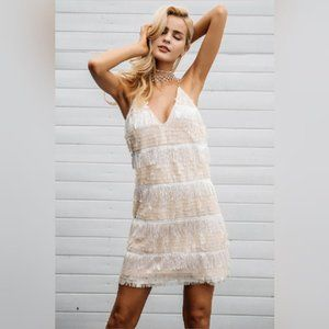 NWT Simplee Sequin Tassel Mini Dress – M